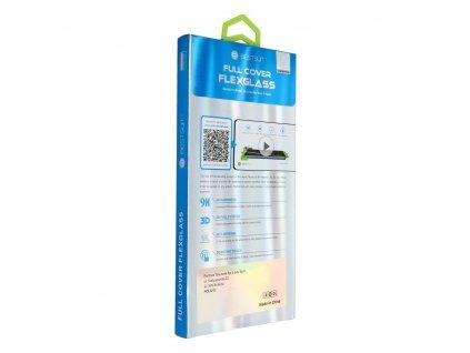 Tvrzené sklo Flexible Nano Glass 5D Full Glue - Samsung Galaxy S20+ černé (Hot Bending) - čtečka