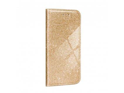 Pouzdro Forcell SHINING Book Samsung Galaxy A51 zlaté