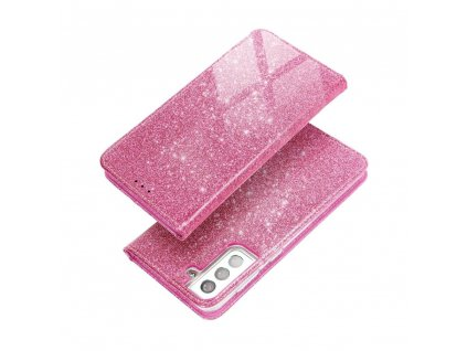 Pouzdro Forcell SHINING Book Samsung Galaxy S20 Ultra růžové