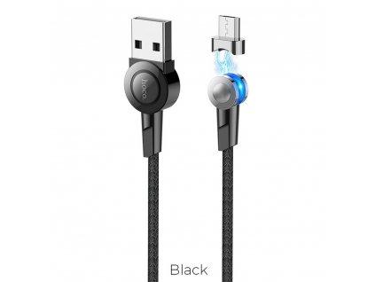 HOCO SELECTED kabel USB magnetický Micro USB S8 černý