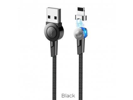 HOCO SELECTED kabel USB magnetický pro Lightning 8-pin S8 černý