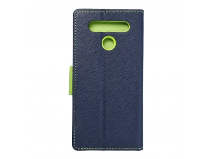 Pouzdro Fancy Book LG K41s navy blue/limonka