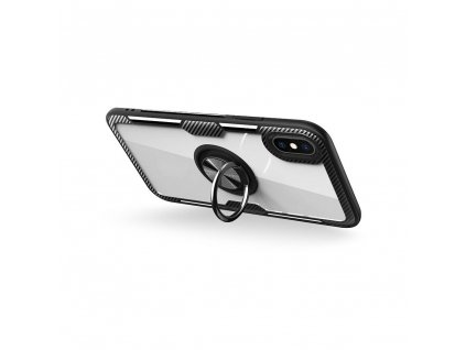 Pouzdro Forcell CARBON CLEAR RING pro APPLE IPHONE 12 černé