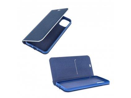 Pouzdro Forcell Luna Carbon APPLE IPHONE 12 MINI modré