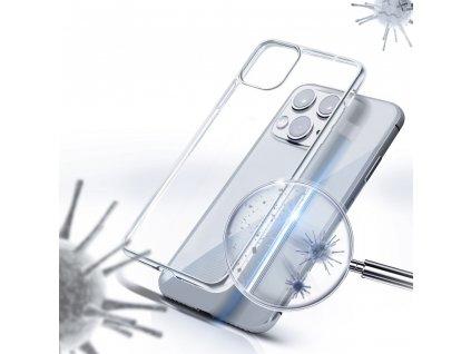 Forcell antibakteriální pouzdro pro APPLE IPHONE 12 MAX / 12 PRO transparentní