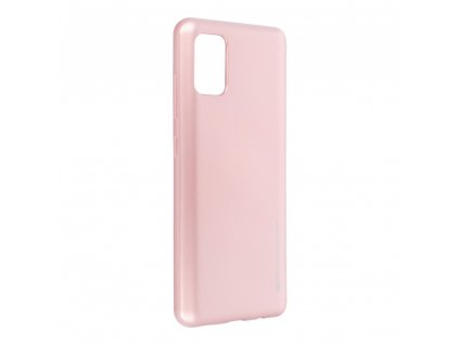 Pouzdro i-Jelly MERCURY/GOOSPERY Samsung Galaxy A41 zlato růžové