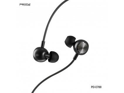 Stereofonní sluchátka REMAX Proda konektor 3,5mm - černé