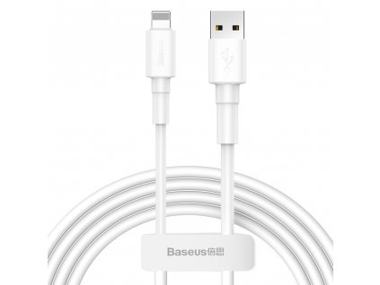 BASEUS kabel USB pro iPhone Lightning 8-pin 2,4A 1 metr bílý CALSW-02