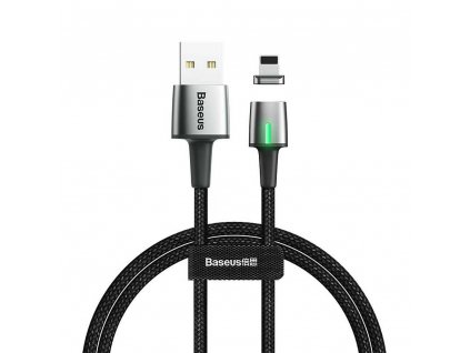 BASEUS kabel USB magnetický ZINC pro iPhone Lightning 8-pin 1,5A 2 metry černý CALXC-B01
