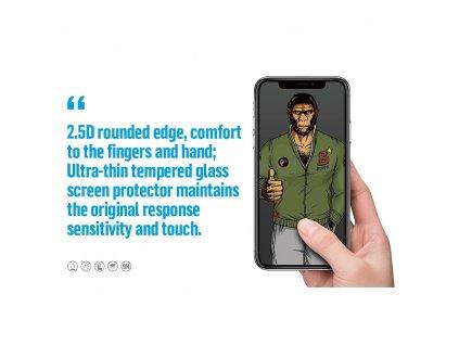 Tvrzené sklo 5D Mr. Monkey Glass Samsung Galaxy A41 černé (Strong Lite)