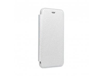 Pouzdro Forcell ELECTRO BOOK SAMSUNG GALAXY A42 5G stříbrné