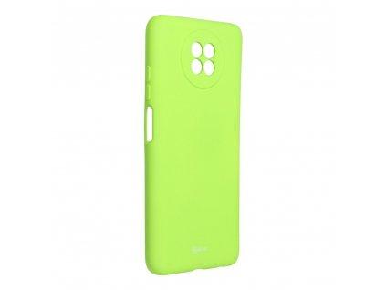 Pouzdro Roar Colorful Jelly Case Xiaomi Redmi Note 9 5G limonka