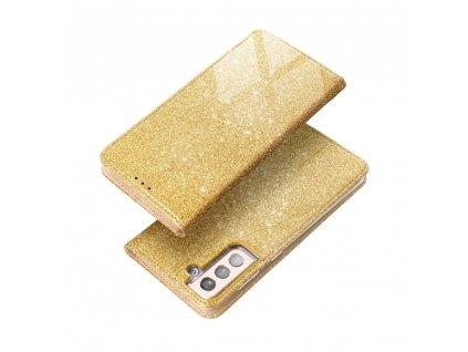Pouzdro Forcell SHINING Book XIAOMI Redmi 9T zlaté