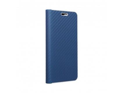 Pouzdro Forcell LUNA Book Carbon SAMSUNG Galaxy A32 LTE modré