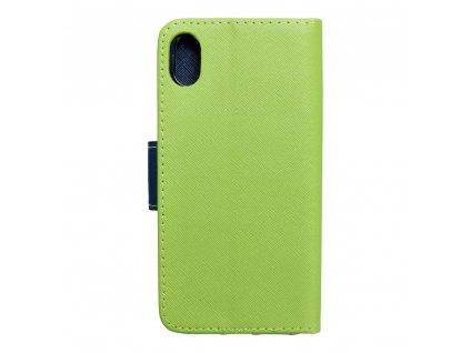Pouzdro Fancy Book APPLE IPHONE XR limonka / navy blue