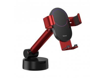 BASEUS gravitační teleskopický držák do auta na čelní sklo / palubní desku červená SUYL-JY09