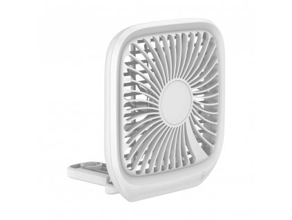 BASEUS auto ventilátor / ventilátor na opěrce hlavy na USB bílá CXZD-02