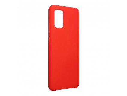 Pouzdro Forcell Soft-Touch SILICONE SAMSUNG Galaxy A02S červené