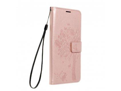 Pouzdro Forcell MEZZO Book SAMSUNG Galaxy S21 strom zlato růžové