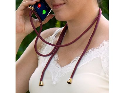 Pouzdro Forcell Cord Samsung Galaxy A32 LTE (4G) červená šňůrka
