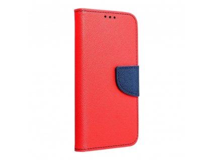 Pouzdro Fancy Book MOTOROLA MOTO E7 PLUS červené / navy blue