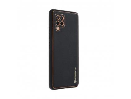 Pouzdro Forcell LEATHER Case SAMSUNG Galaxy A42 5G černé