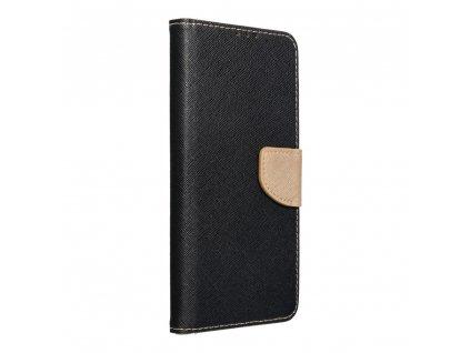 Pouzdro Fancy Book Samsung Galaxy A22 4G černé/zlaté
