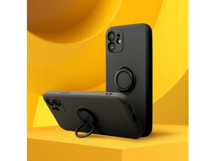 Pouzdro Forcell SILICONE RING Apple Iphone XR černé