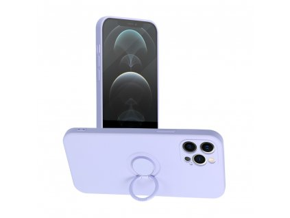 Pouzdro Forcell SILICONE RING Apple Iphone 12 PRO MAX fialové