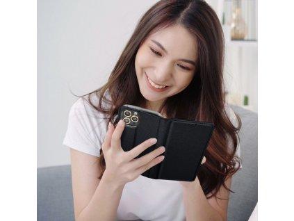 Pouzdro Smart Book pro Apple iPhone 5/5S/SE - černé