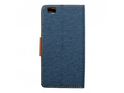 Pouzdro Canvas Mercury Book - Huawei P8 Lite - tmavě modré