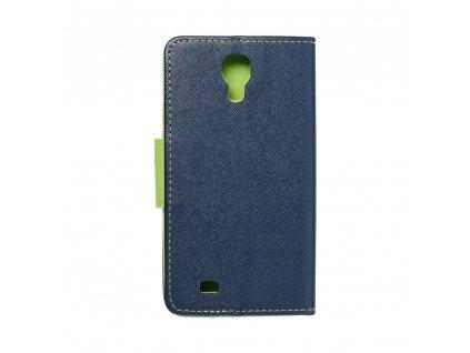 Fancy pouzdro Book - Samsung i9505 Galaxy S4- modré/limetkové