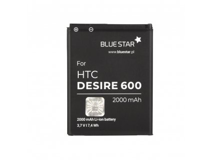 Baterie BlueStar pro HTC Desire 600- 2000 mAh Li-Ion BS PREMIUM