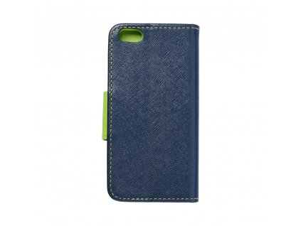 Fancy pouzdro Book - Apple iPhone 5/5S- modré/limetkové