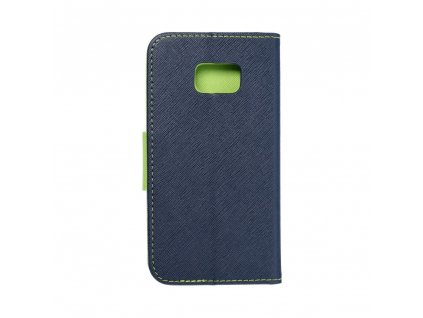 Fancy pouzdro Book - Samsung G930F Galaxy S7- modré/limetkové