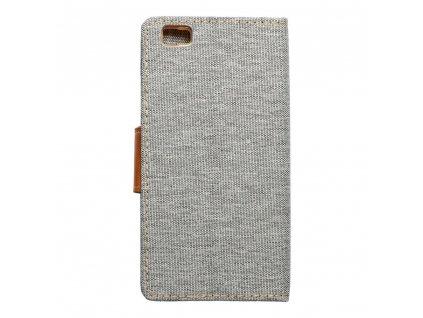 Pouzdro Canvas Mercury Book - Huawei P8 Lite - šedé