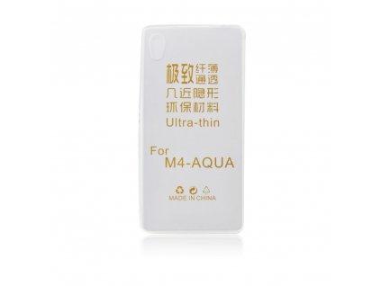 Pouzdro Back Case Ultra Slim 0,3mm - Sony E2303 Xperia M4 Aqua - transparentní