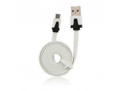 Forcell Datový kabel plochý micro USB, bílý