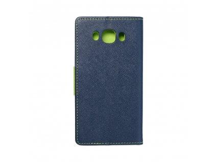 Fancy pouzdro Book - Samsung J510 Galaxy J5 (2016) - modro/limetkové
