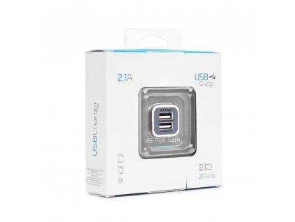 BlueStar USB Dual Autodobíječ White / bílá max 2,1A