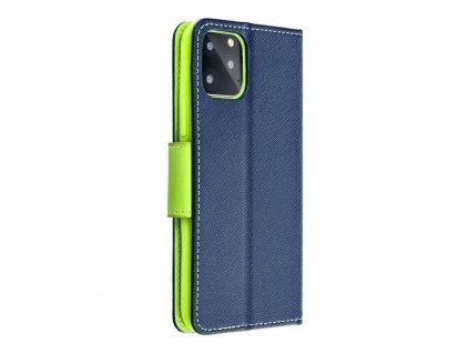 Fancy pouzdro Book - Nokia 230 - modré/limetkové
