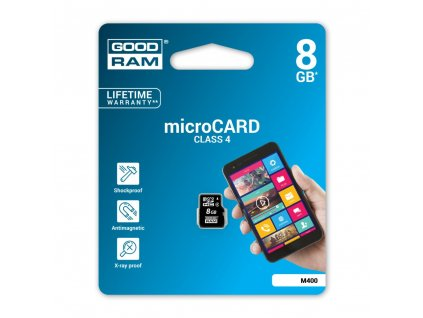 Paměťová karta GOODRAM microSD 8GB bez adapteru SD