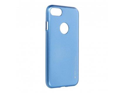 Pouzdro i-Jelly MERCURY/GOOSPERY pro Apple Iphone 7 modré s vyřezem na logo
