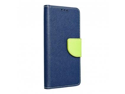 Fancy pouzdro Book - Huawei P8 Lite (2017) - modré/limetkové