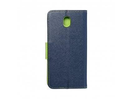 Fancy pouzdro Book - Samsung Galaxy J7 2017 - modré/limetkové
