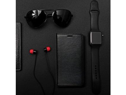 Pouzdro Magnet Flip Wallet Book pro Huawei P8 Lite (2017) černé