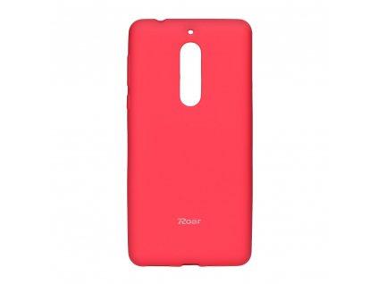 Pouzdro Roar Colorful Jelly Case Nokia 5 (2017) Růžové