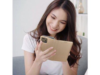 Pouzdro Smart Case Book Samsung Galaxy J3/J3 (2017) zlaté