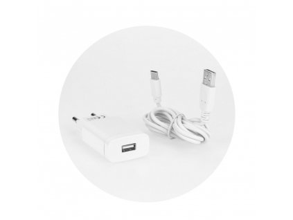 Forcell MicroUSB síťová nábíječka typ kabelu C - 2.4A Quick Charge 3.0