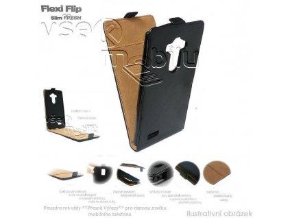 65654 pouzdro forcell slim flip case htc one mini m4 cerne